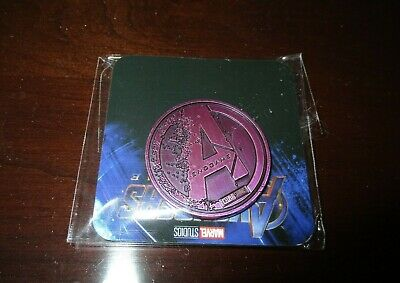 Marvel Studios Avengers Endgame Opening Night Fan Event Collector Coin Purple