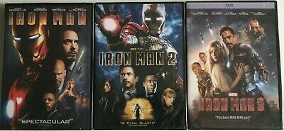 Iron Man 1 2 3 Trilogy 1-3 123 Marvel Movie Collection DVD BRAND NEW USA seller