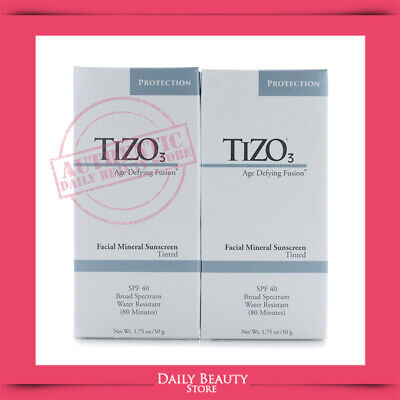 Tizo3 Age Defying Fusion Facial Mineral Sunscreen SPF 40 1.75oz Tinted X 2 PACK