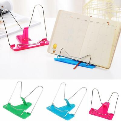 Adjustable Angle Metal Book Stand Foldable Portable Document Reading H Book T8G8