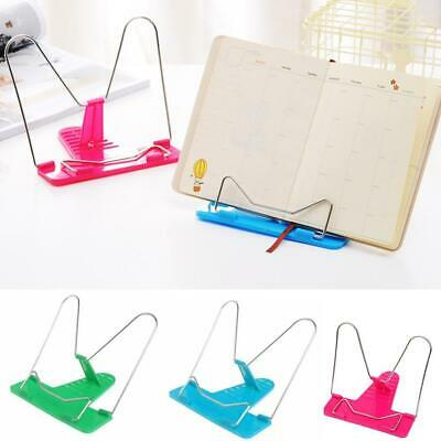 Adjustable Angle Metal Book Stand Foldable Portable Document Reading Holder