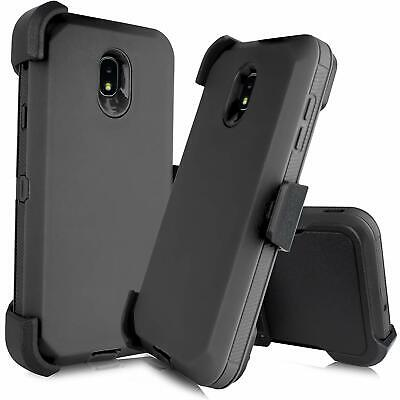 For Samsung Galaxy J3 2018 Rugged Armor Case (Belt Clip fit Otterbox Defender)