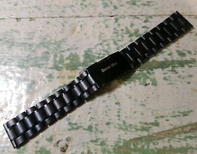 Detroit Mint Quick Release Stainless Steel Watch Band Matte Black 20 mm