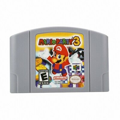 Mario Party 3 For Nintendo 64 N64 Game Card Cartridge US Version Play Card US