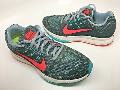 5364013f2acbb NIKE AIR ZOOM Structure 18 Womens Size 7.5 Grey Black Jade Coral 683737 001  VGC!