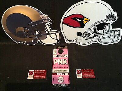 Arizona Cardinals vs LA Los Angeles Rams 12/1 Pink PNK Lot Parking Pass Tickets
