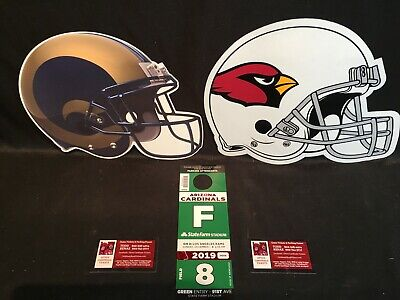 Arizona Cardinals v Los Angeles Rams 12/1 Green F Field Lot Parking Pass Tickets