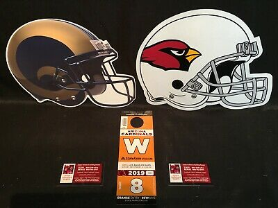 Arizona Cardinals v Los Angeles Rams 12/1 Orange W West Lot Parking Pass Tickets