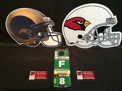 Arizona Cardinals vs Los Angeles Rams 12/1 Green F OVERSIZED RV Lot Parking Pass