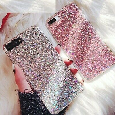 Silicone Bling Glitter Crystal Case Cover for Xiaomi Mi A1 A2 Redmi Note 4 5A