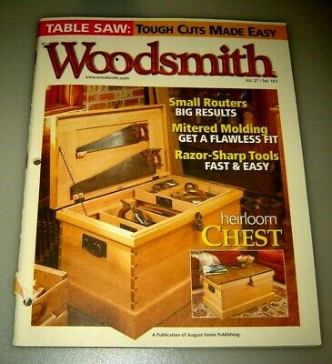 Woodsmith Magazine Heirloom Chest Vol 27 Issue 161 October/November 2005