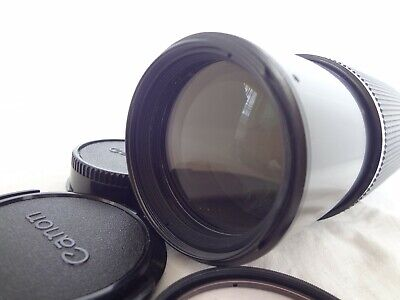 Near Mint Canon Zoom Lens FD100-300mm/F5.6 with filter from Japan 1918