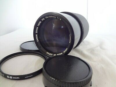 Canon Zoom Lens FD 70-210mm/F4 with filter from Japan Excellent condition 1919