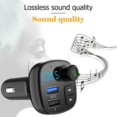 Wireless Bluetooth 5.0 Car Kit FM Transmitter MP3 Player USB Charger Handsfree