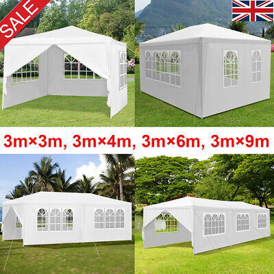 Gazebo Marquee Party Tent With Sides Waterproof Garden Patio Outdoor Canopy New