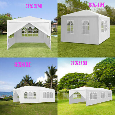 New 3 x 3m-9m Waterproof Outdoor PE Garden Gazebo Marquee Canopy Party PE Tent