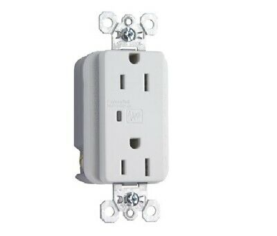 P & S 5262-WSP Surge Protection TVSS Duplex Recptacle, 15A 125V, 5-15R, White