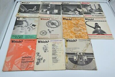 Vintage Which? Magazine Collection 1962 11 Issues