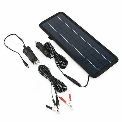 4.5W/12V Volt Cars Boats Motorcycle Battery Charger Solar Powered Panel Trickle