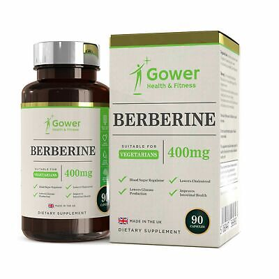 Berberine HCL (400mg) | 90 Capsule | Black Pepper Extract | Blood Sugar Control
