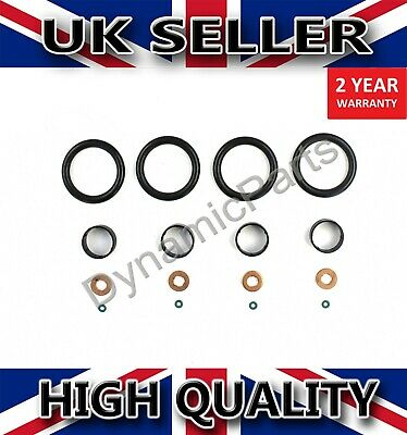 A SET OF 4 O.E INJECTOR COPPER WASHER SEAL FORD FIESTA FUSION 1.4 TDCI 2001-2008