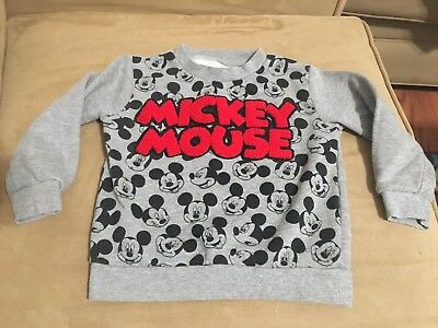 Mickey Mouse Sz 3T LS Shirt Sweatshirt Gray Mickey And The Roadsters Disney