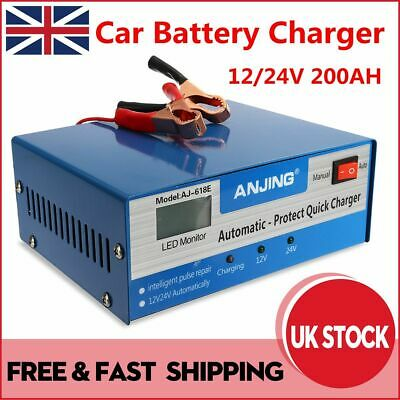 Car Battery Charger 12V 24V Automatic Intelligent Pulse Repair Lead Acid Starter