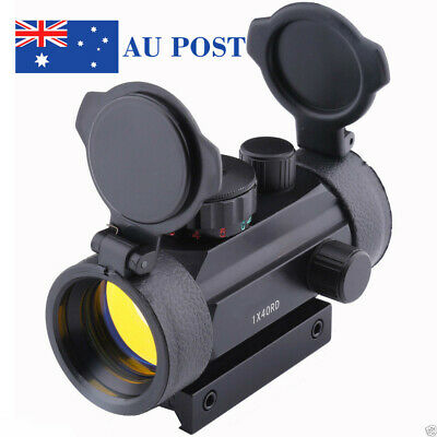 Tactical Holographic 1X40mm Airsoft Red Green Dot Sight Scope 11&20 Rail Mount