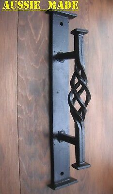 Wrought Iron Front Entry Door Large Pull Handle