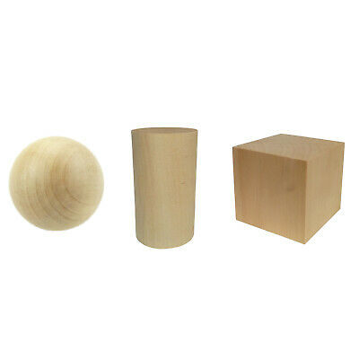 Natural Wooden Craft Wood Balls/Cube/Cylinder Crafts Supplies 6mm 8 10 12~90mm