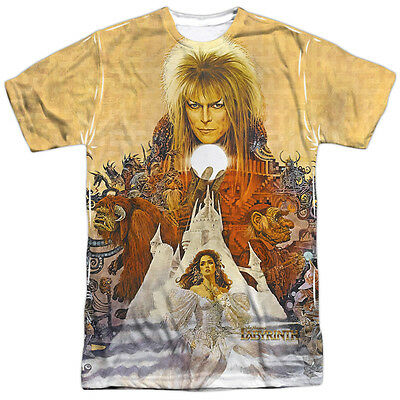Labyrinth Movie Cover Art David Bowie Sublimation Licensed Adult T-Shirt