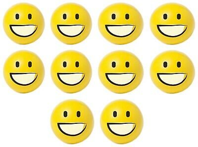 10 x SMILEY EMOJI ANTI STRESS RELIEVER STRESS BALL RELIEF ARTHRITIS PHYSIO MOOD