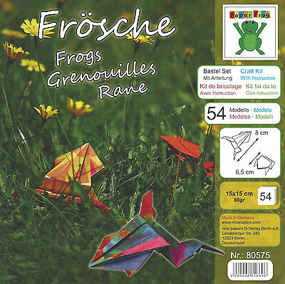 Paper Frog 54 Sheets Origami Craft Paper Kit