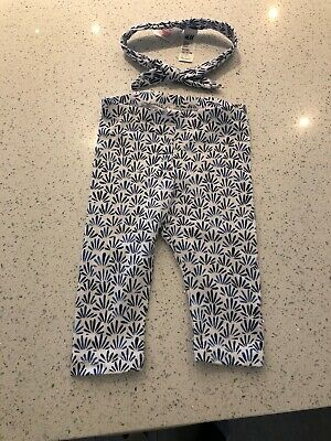 Girls Kids Baby H&M Leggings With Matching Hair Band 4-6 Months