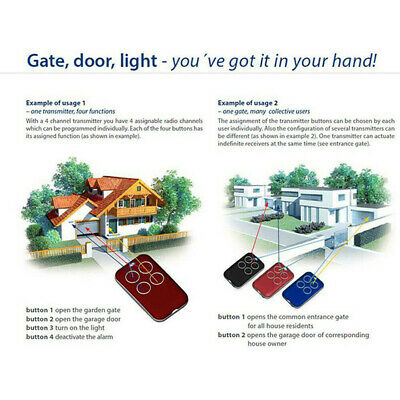 433MHz Multi-frequency Universal Automatic Door Cloning Remote Control XM