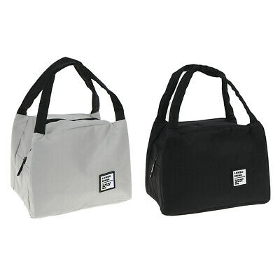 1pc Lunch Bag Thermal Insulated Picnic Box Tote Cooler Case Food Storage Bag XM
