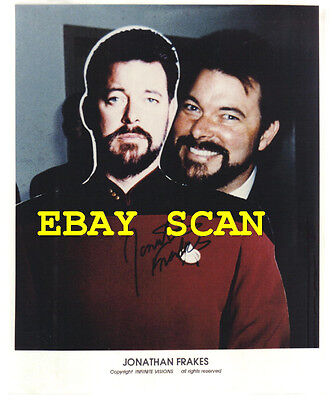 1995 Star Trek Hand Signed Autograph Photo of Jonathan Frakes, Commander Riker