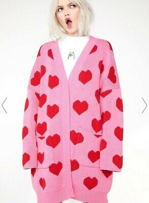 4dbf9d675a Lazy Oaf ALL MY HEART CARDIGAN Sold Out LARGE