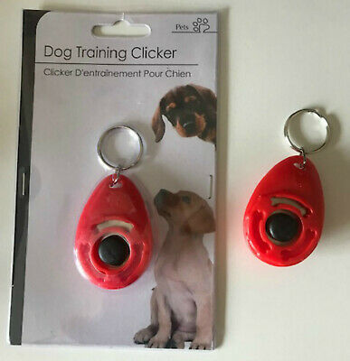 Red Dog Pet Training Clicker / Trainer Teaching Tool / Dogs / Puppy / Puppies
