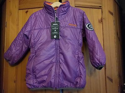 Racoon Girls Jacket Padded Lightweight Jacket Grape 3 Years 98cm Brand New