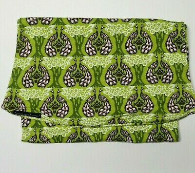 PETUNIA PICKLE BOTTOM SoJourn Baby Sling LARGE Organic Cotton Green Peacocks