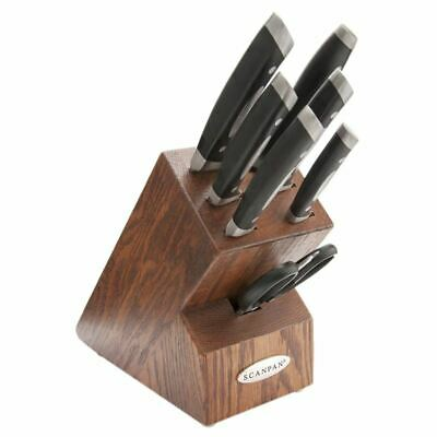 Scanpan Classic - Dark Oak 8 Piece Knife Block Set