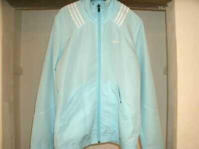 Adidas Climalite Turquoise Jacket Top Women`s Size UK 10 Pit to pit 47CM sports
