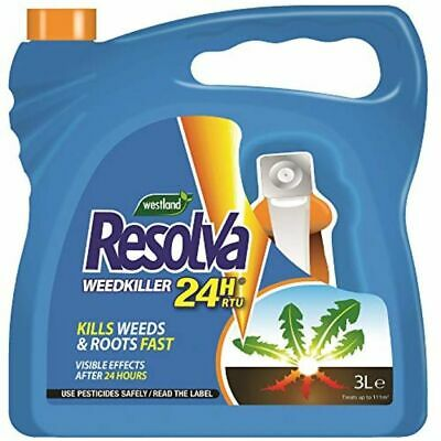 Westland Resolva 24H Ready to Use 3L Strong Herbicide Glyphosate Weed Killer