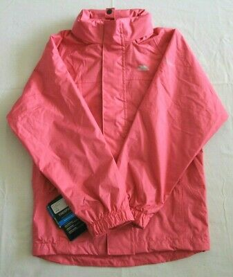 Trespass Skydive Girls Petal Pink Jacket with TP50 Aged 9-10 years BNWT