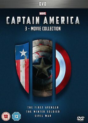 Captain America 1-3 movie Collection DVD (region 1) sealed with free delivery.