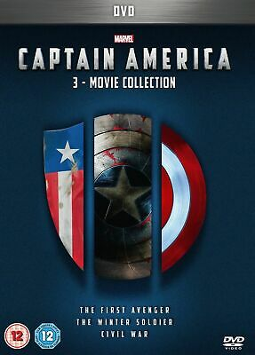 Captain America 1-3 movie Collection DVD sealed with free delivery.