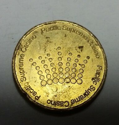 Pacific Supreme Casino metal token gaming coin 25mm