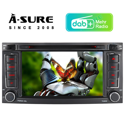 7''Autoradio DVD GPS Bluetooth SWC LED DAB+ SD-16G VW Transporter T5 multivan