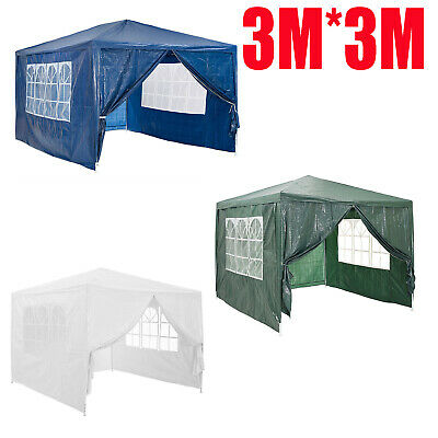 3Mx3M 120g Waterproof Outdoor Party PE Garden Gazebo Marquee Canopy Party Tent